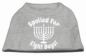Spoiled for 8 Days Screenprint Dog Shirt Grey Lg (14)